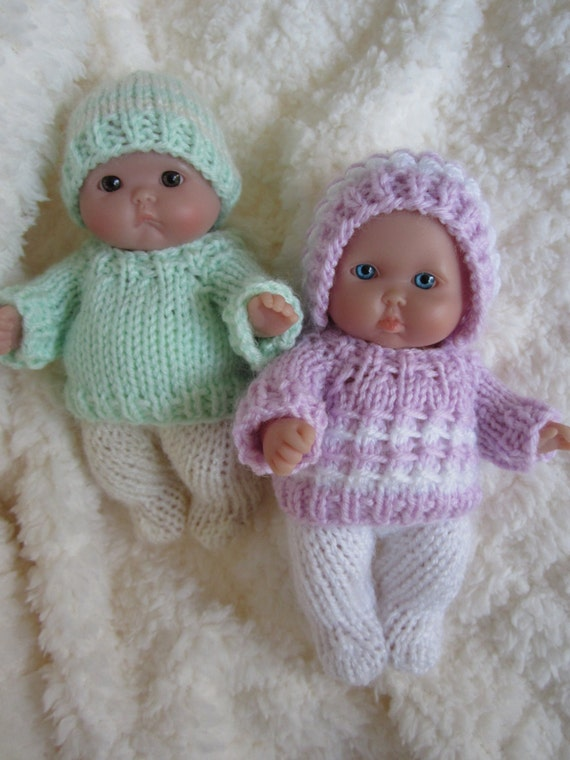 Doll Clothing Knit Pattern Berenguer Baby Doll Boy and Girl Sweater ...