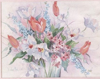 "Dimensions Vintage ""Spring Profusion"" no count cross stitch kit"