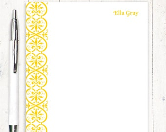personalized notePAD - ELEGANT ELLA - stationery - stationary - womens stationery - fancy paper - gift for her