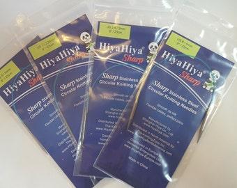"HiyaHiya SHARP Stainless Steel Circular Knitting needles, 23cm/9"""