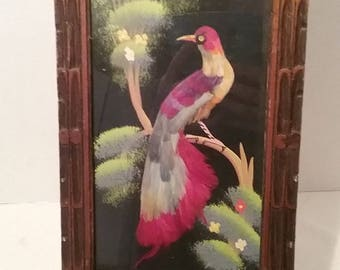 Mexican Feathercraft Framed Picture