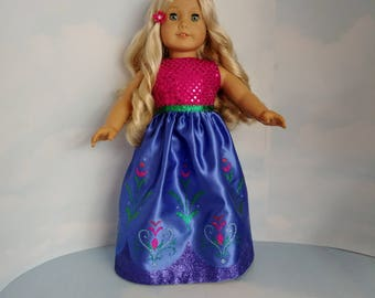 Anna Gown 18 inch doll clothes -#275