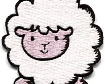 White Sheep Iron on Applique, Cute White Lamb Iron on Patch, Iron-on Application