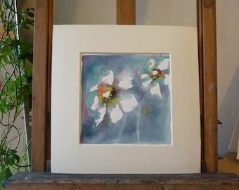 Original Watercolour; Anemones