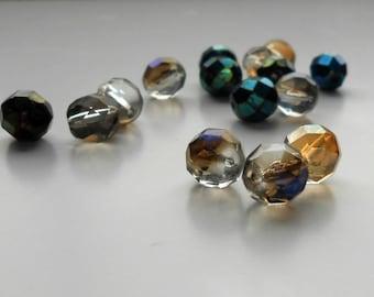 15 Vitreal Mix Fire Polished Czech Beads, 8mm Fire Polished Czech Round Beads, Jewelry Making, Jewelry Supplies, Craft Supplies