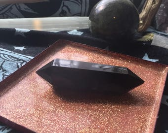 Double terminated obsidian