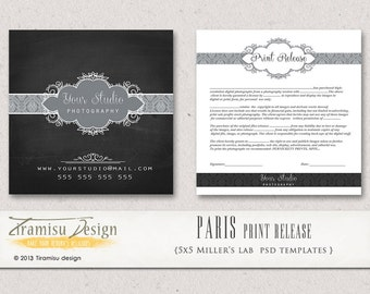 INSTANT DOWNLOAD- Photography Print Release - 5x5 Template-Paris