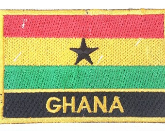 Ghana  Embroidered Sew or Iron on Patch Badge