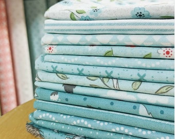 Nest Blues by Lella Boutique FQ bundle - 13 Fat Quarters