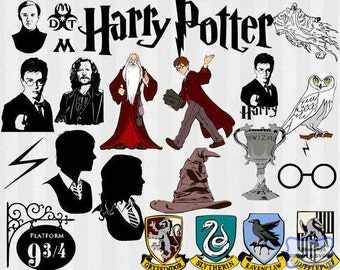 Harry Potter SVG, Harry Potter dxf, harry potter clipart, SVG files for Silhouette Cameo or Cricut, harry potter logo, vector, .svg, .dxf
