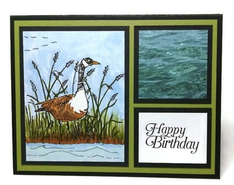 Birthday Card, Handmade Card, Card For Him, Card For Dad, Masculine Card, Greeting Card, Canadian Goose, Stampin Up Card