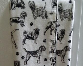 Dog Crib Blanket - Flannel and Fleece Blanket
