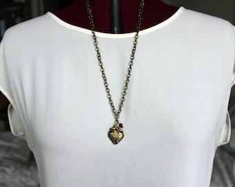 Strawberry Love Locket Necklace