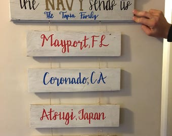 Home is where the navy sends us-sign