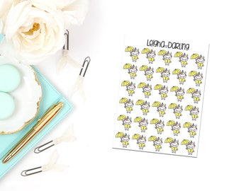 Rain Coat Planner Stickers