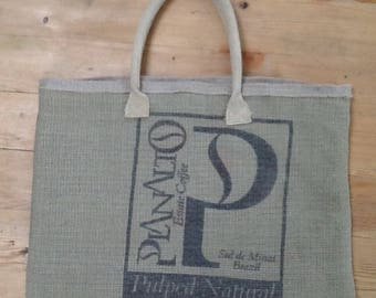 Tote bag made from recycled coffee bean sacks