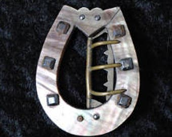 Victorian Mother Of Pearl Horseshoe Buckle