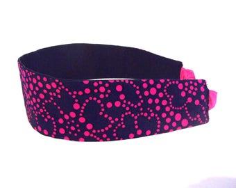 Girl pink and Navy headband