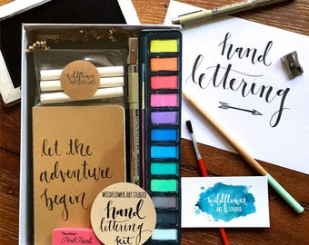 Hand Lettering Kit - Starter Set for Beginning Hand Lettering