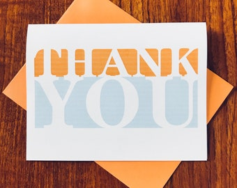 Fine Line Thank You Cards - Set of 10 on 100% Recycled Paper