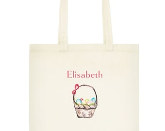 Custom Name Easter Tote Bag