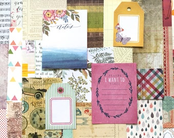 Decorative Paper Scrap Packs / Scrapbooking / Paper Crafting / Card Making / Art Journaling / Smash Books / ATC's / Mail Art