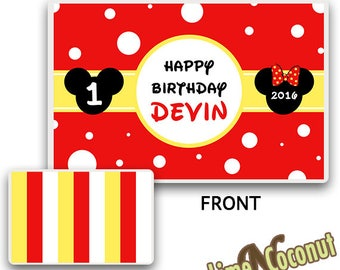 Mickey PLACEMAT, Customized Dinnerware, Kids Tableware, Place Setting, Kids Place Mat, Childrens Mouse Dinnerware, Baby's 1st Birthday Set