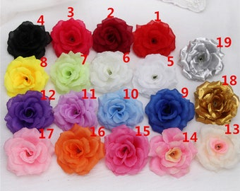Silk flowers etsy wholesale silk flower heads artificial rose heads 3 bulk 100 flowers for wedding reception decoration mightylinksfo