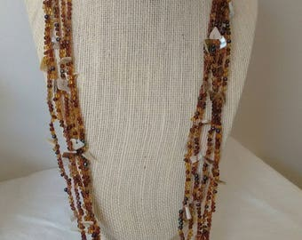 Vintage Five Strand Necklace