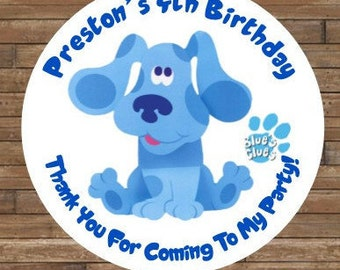 DIY Personalized Blue's Clues Stickers - Blue's Clues Favor Tags - Blue's Clues Birthday