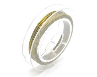 10 m 0.45 mm gold wrapped (FIL125) twisted steel wire