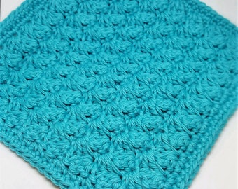 Set of 5 Cotton Washcloths in your choice of color - Soft Crocheted Washcloths - Facecloths - Housewarming Gifts