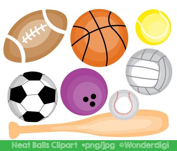 sports clipart sport balls clip art kids clipart school rh etsystudio com Sports Balls Clip Art Black and White clip art black and white sports balls
