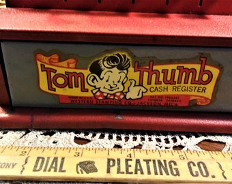 Vintage Children's Toy Tom Thumb Cash Register