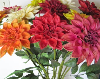 Real Touch Chrysanthemums Artificial Flowers/Magenta/White/Orange/Yellow/Red/Floral Arrangement/Flower Centerpiece/Home Decor