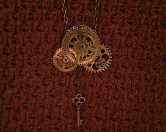 Steampunk pendant droppingkey