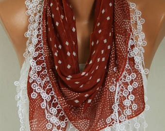 Clothing Gift,Burnt Orange Cotton Scarf Oversize Scarf Necklace Cowl Scarf Multicolor Gift Ideas for Her Women Fashion Accessories