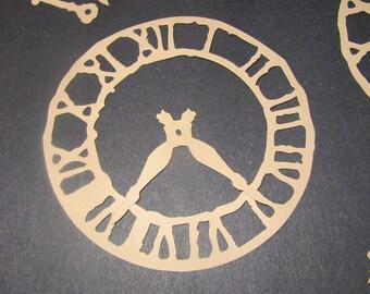 Clock Die Cut Set of 6 (18 pieces) Tim Holtz Weathered Clock Die Cut, Steampunk Funk, Mechanical Grunge, Invitations