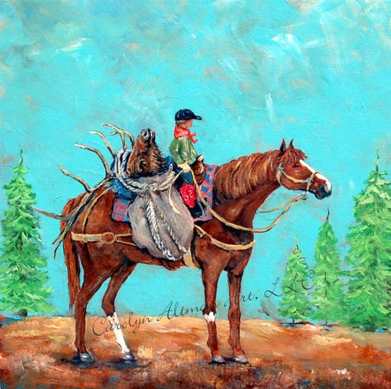 Painting 20x20 Inch | First Hunt | Hunting Painting