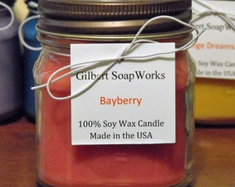 Soy Bayberry Candle // hand poured // gifts for her // wedding gifts // home sweet home