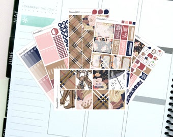 """Fall/Leaves/Winter/Fashion """"Hello Autumn""""  Themed Planner Stickers for Erin Condren, Kikki K, Filofax, Happy Planner, Websters Pages"""
