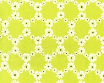 1 Yard Jemma Lime Green cx5912 Fabric Michael Miller Cotton Print