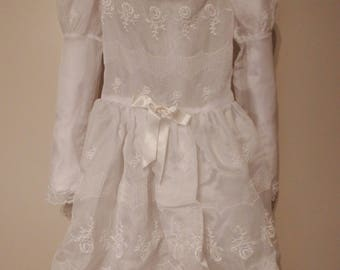 first communion dress - communion dress with veil - communion dress vintage - first communion dress - communion veil - communion dress lace