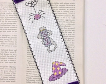 Halloween Themed Needlepoint Bookmark
