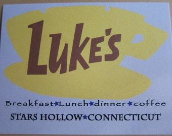 Gilmore Girls - Luke's Diner Postcard