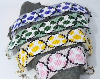 Mario bros. Yoshi Eggs Pixel beaded Bracelet Spring Easter- choose 1- made to Order