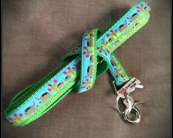 Medium Happy Hippos Dog Leash