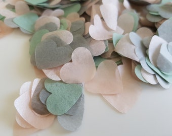 Dusty Green - Dusty Pink - Grey  Throwing and Table decor confetti