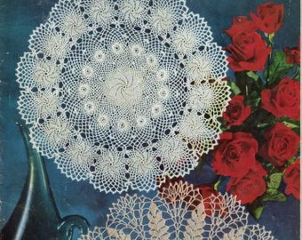 Vintage Crochet Patterns,Floral Doilies Pattern,Doilies in the Modern Manner ebook/PDF Instant download.