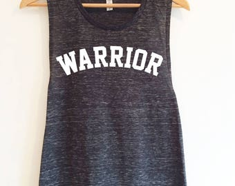 NEW Warrior Flowy Scoop Muscle Fitness Gym Vest, Workout Tank, Training TopBlack Marble by Sloganfit
